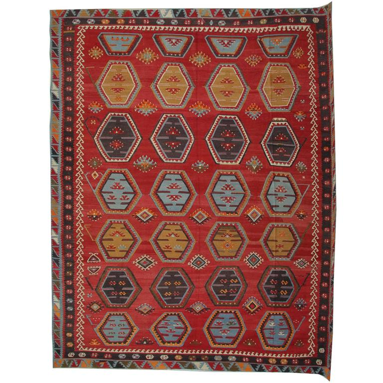 Antique Anatolian Turkish Kilim Rug For Sale At 1stdibs