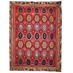 Antique Rugs, Turkish Kilim Rug, Sarkisla Carpet Rug from Anatolia