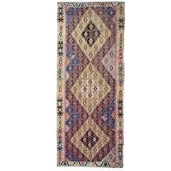Antique Rug, Anatolian Handmade Carpet Runner, Oriental Rug Turkish Kilim Runner