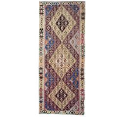 Antique Rug, Anatolian Carpet Runner, Turkish Kilim Runner