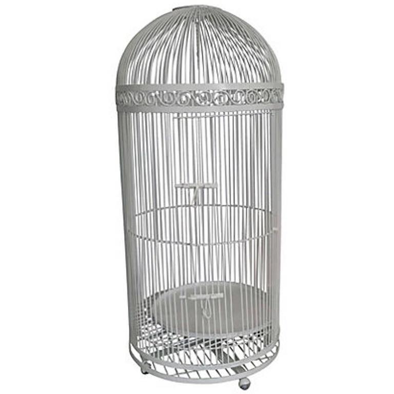 Antique American Wrought Iron Lifesize Birdcage Quot Saturday