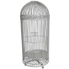 Antique American Wrought Iron Lifesize Birdcage
