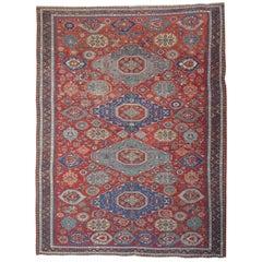 Antique Rugs Caucasian Kuba, Floor Rugs, Sumakh Kilim Rugs,