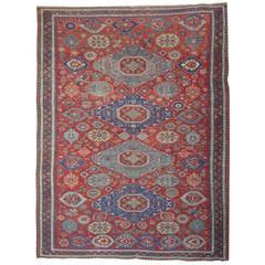 Antique  Rug Caucasian Kuba, Floor Rugs, Sumakh Kilim Rugs,
