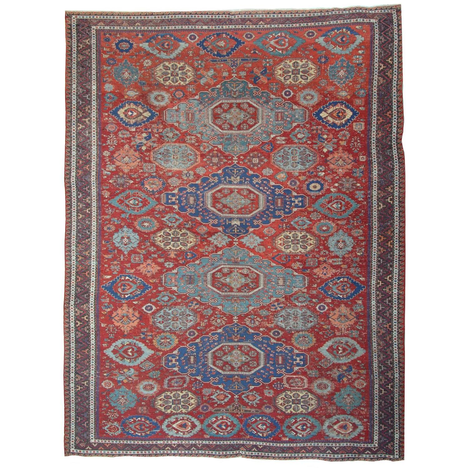 Antique Caucasian Kuba Rug For Sale At 1stdibs