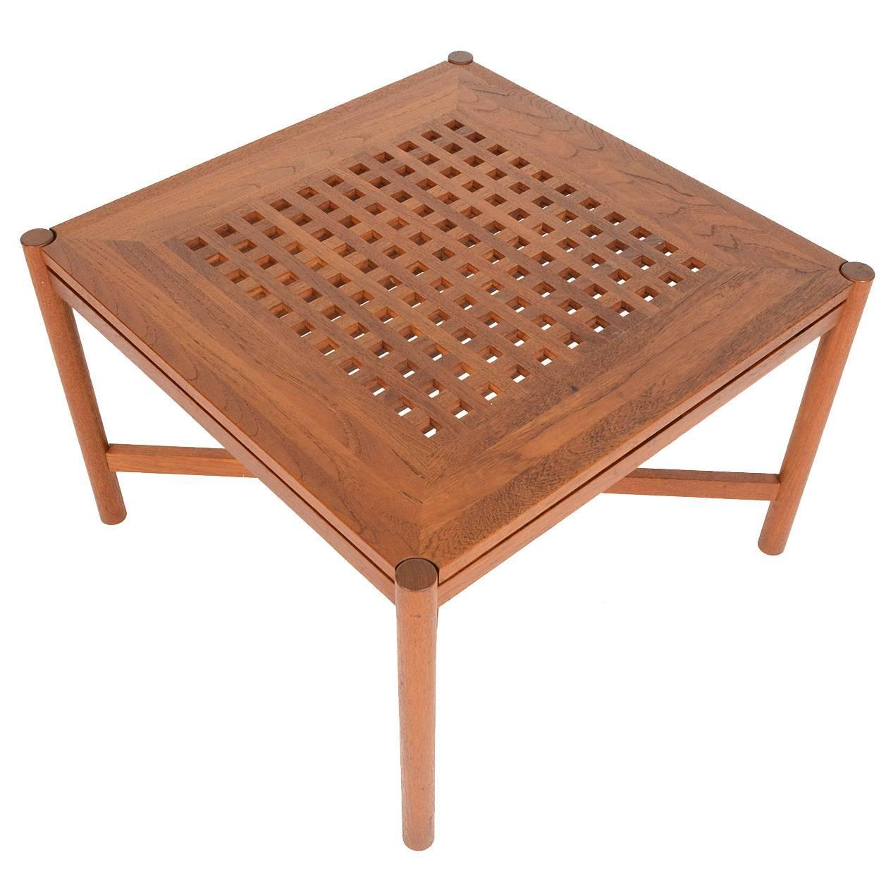 Teak Oil Coffee Table: Danish Modern Square Teak Coffee Table By Trip Trap For