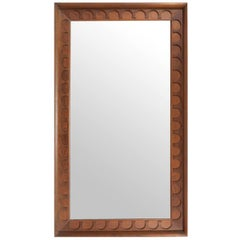 Walnut Framed Mirror by George Nelson/ Arthur Umanoff for Howard Miller