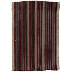Banded Anatolian Kilim Rug
