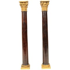 Rosewood Columns with Corinthian Capitals first half of the 19th century