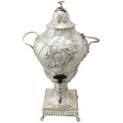 Sterling Silver Samovar, Regency Style, Antique George III