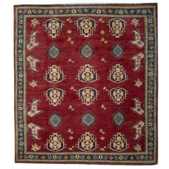 New Traditional Rugs, Kazak Square Rugs, Carpet from Afghanistan