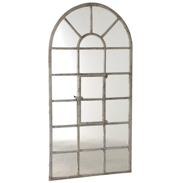 19th century cast iron window frame as mirror at 1stdibs for Full length window mirror