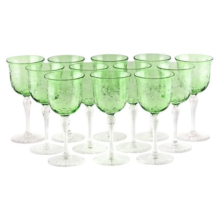 12 Thomas Webb Cut Crystal Wine Goblets For Sale At 1stdibs