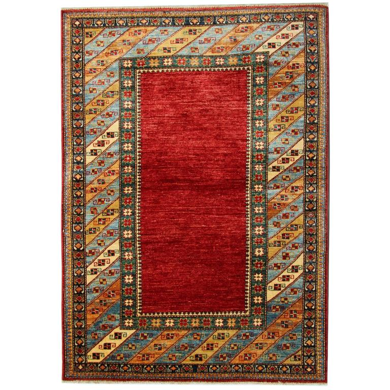 Afghan Rugs, Kazak Rugs, Red Rug From Afghanistan For Sale
