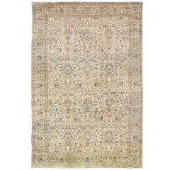 Antique Fine Persian Kerman Carpet