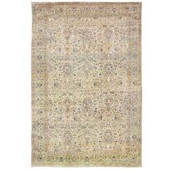 Antique Fine Persian Kerman Carpet