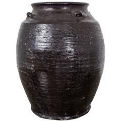 Urn Glazed Pottery Ming China
