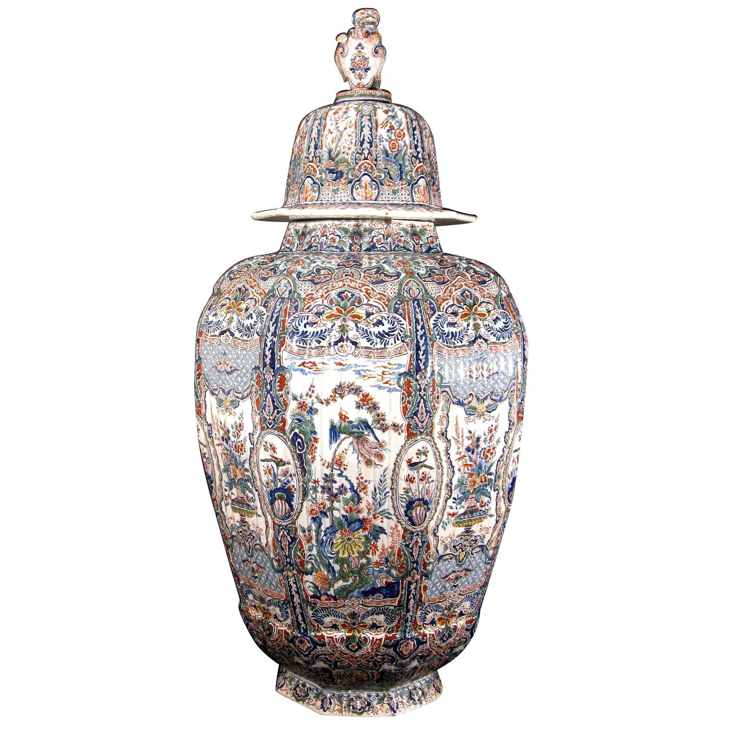 Dutch delft monumental imari vase and cover at 1stdibs reviewsmspy