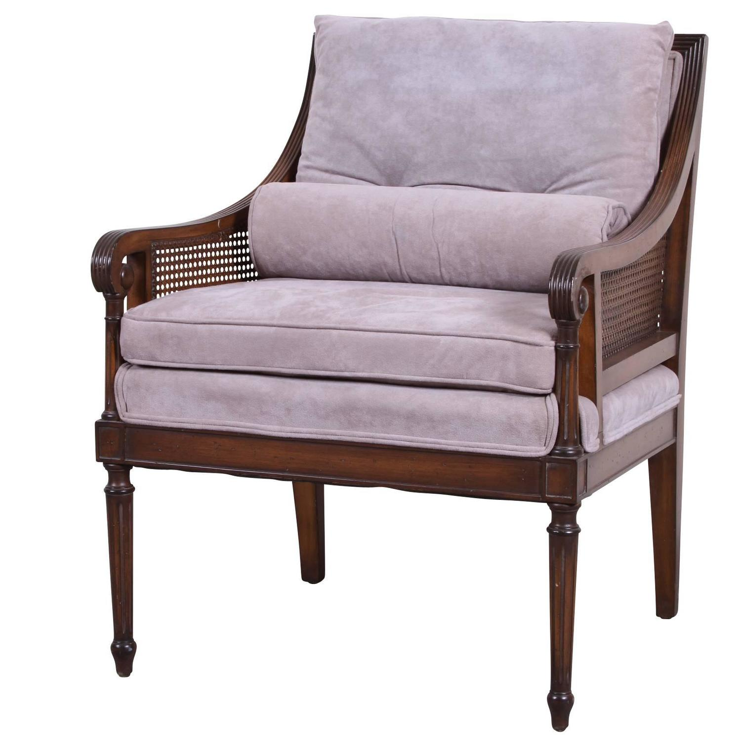 mid century louis xvi style bergere at 1stdibs. Black Bedroom Furniture Sets. Home Design Ideas
