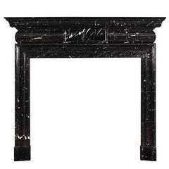 Georgian Style Marble Fireplace in Nero Marquina