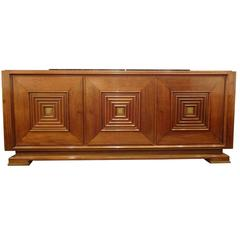 Mid-Century Sideboard in Hand Waxed Palisander and Bronze