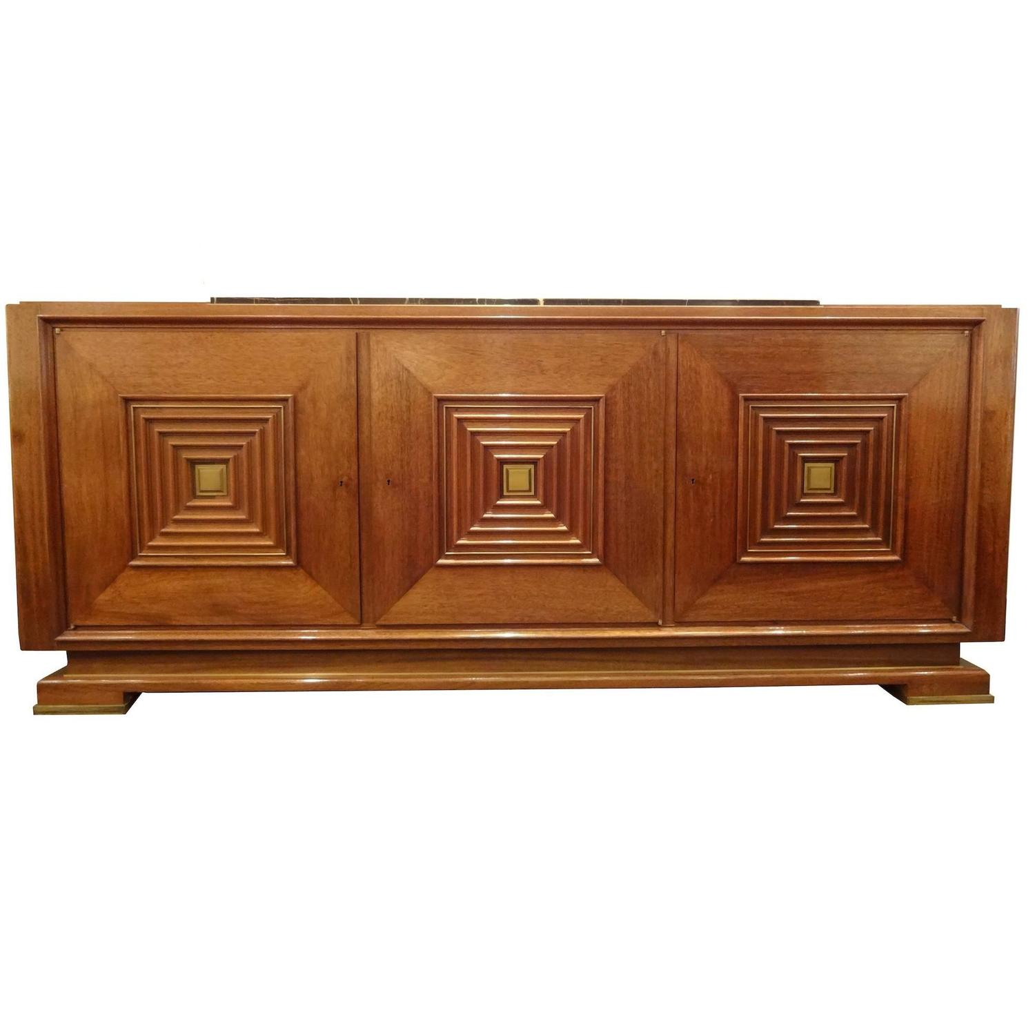 mid century sideboard in hand waxed palisander and bronze for sale at 1stdibs. Black Bedroom Furniture Sets. Home Design Ideas