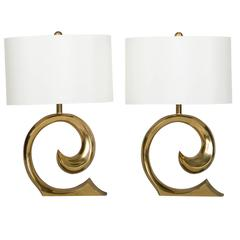 Pair of Signature Lamps by Pierre Cardin