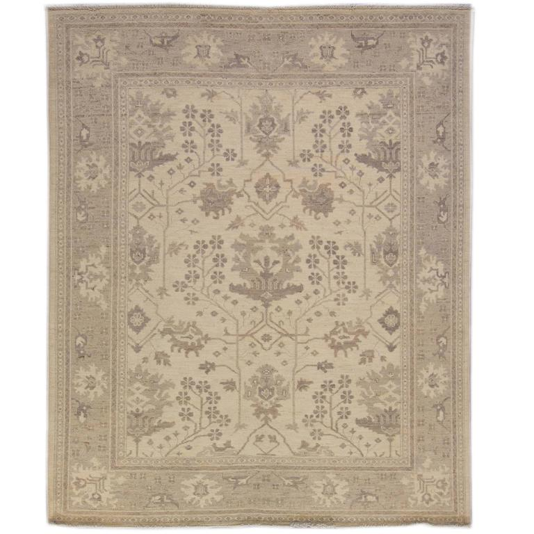Lovely nice oushak rug for sale at 1stdibs for Nice rugs for sale