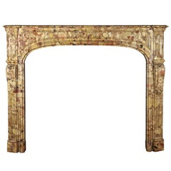 18th Century Original Antique Fireplace Mantel in Royal Marble