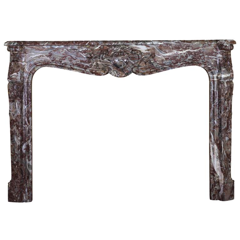 18th Century Belgian Antique Fireplace Mantel in Marble