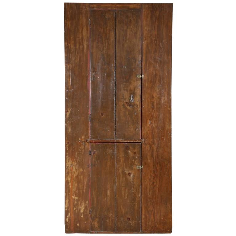 19th Century American Painted Pine Cupboard