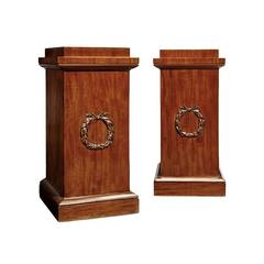 Pair of William IV Mahogany Dining Pedestals