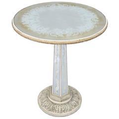 Italian Églomisé Occasional Pedestal Table