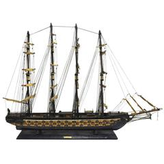 Large Antique Spanish Sail Boat Model