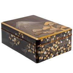 19th Century Japanese Lacquered Ryoshi-Bako Mont Fuji ( Decorative Box)
