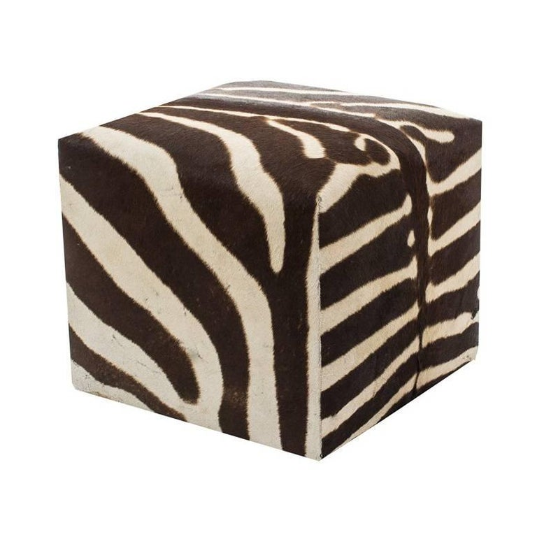 Surprising African Zebra Cube Ottoman Andrewgaddart Wooden Chair Designs For Living Room Andrewgaddartcom