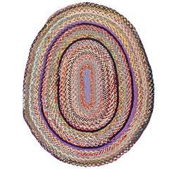 Vintage American Braided Rug
