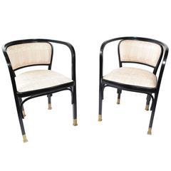 Vienna Secessionist Armchairs Designed by Gustav Siegel