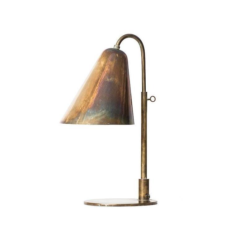 Vilhelm Lauritzen & Frits Schlegel Table Lamp by Fritzsche's Glashandel