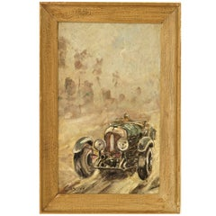 Vintage Car Racing Painting by C Rosby Classic cars France