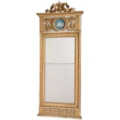 Swedish Gustavian Period Mirror with Giltwood Bow, circa 1790
