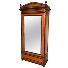 Fine 1890's English Faux Bamboo Armoire