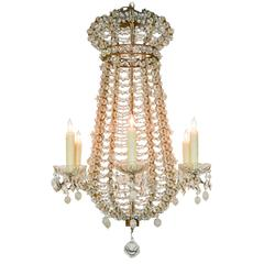 19th Century Italian Beaded Chandelier