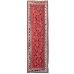 Kilim Runner Qashqai Designs, Geometrical Carpet Runner, Stair runner rugs
