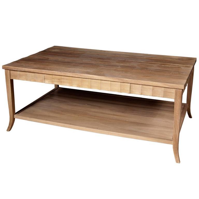 Heritage Wood Coffee Table At 1stdibs