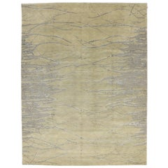 New Contemporary Abstract Metamorphic Vein Rug with Modern Style, Raised Pattern
