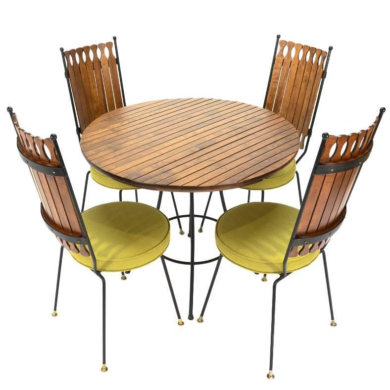 iron and maple dining set by arthur umanoff at 1stdibs