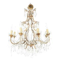 French Crystal Birdcage Chandelier