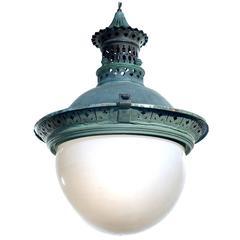 Ornate Copper 19th Century European Street Lamp