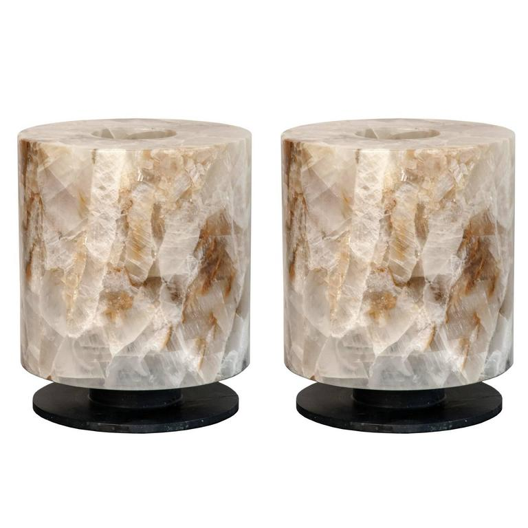 Gorgeous Rock Crystal Pair of Lamps 1